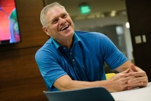 (Francisco Kjolseth  |  The Salt Lake Tribune) Dale Murphy, media man: Former Atlanta Brave great and Alpine resident, talks about becoming a columnist for The Athletic and co-hosting a sports podcast with ESPN 700's Bill Riley.