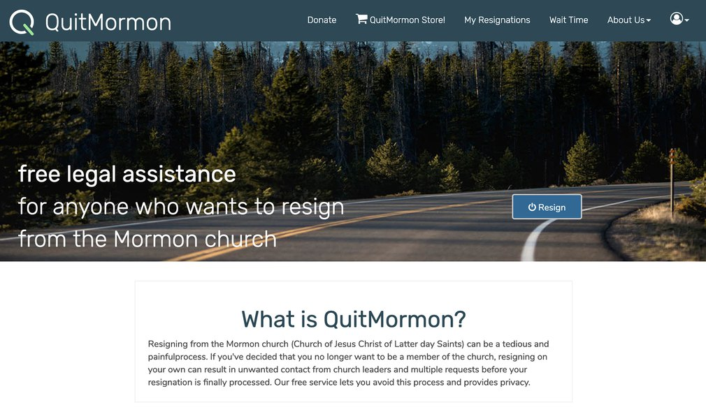 The LDS Church adds a new step for members using QuitMormon