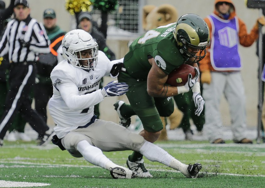 No. 14 Utah State survives on Colorado State penalty; Boise State up next for the 10-1 Aggies