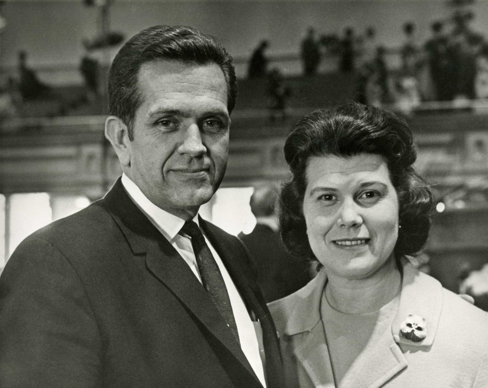 Courtesy | LDS Church Elder and Sister Packer in the Tabernacle at general conference, April 1970.