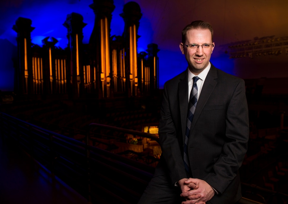 (Leah Hogsten | The Salt Lake Tribune) This was a dream come true that I never thought was ever actually going to happen, said Brian Mathias, who was hired in January 2018 to become one of four full-time organists for the Mormon Tabernacle Choir. Christiansen is pictured with the Mormon Tabernacle Choir organ, Thursday, March 1, 2018.