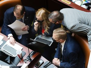 (Rick Egan | Tribune file photo) Utah House members, seen here Friday, Feb. 26, 2021, approved two bills Thursday aimed at easing the state's affordable housing shortage. One of them is designed to create more basement apartments inside owner-occupied single-family homes.