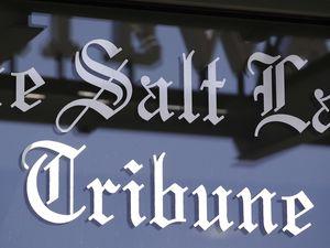 (Rick Bowmer   AP photo)  In this April 20, 2016, file photo, shows the Salt Lake Tribune sign in Salt Lake City.