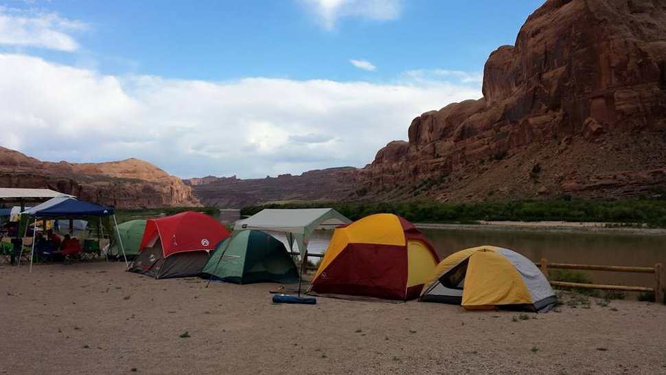 | Courtesy Tom Schilling Gold Bar group campground near Moab, seen here in May 2015, sits beside the Colorado River and the trailhead to Corona Arch.