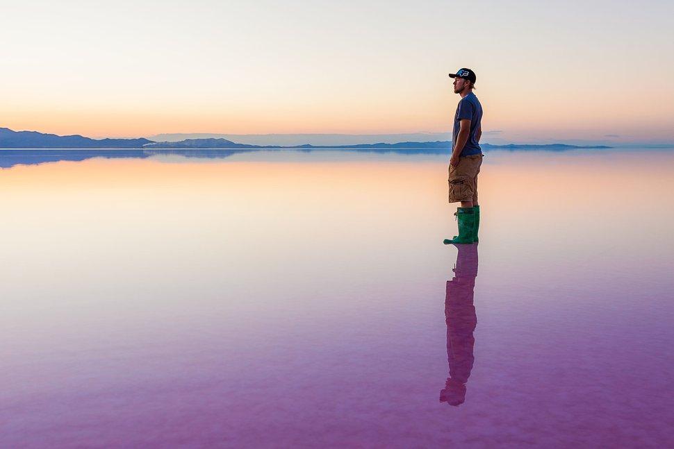 (File photo courtesy of Nilauro Markus) Evaporation ponds at the Great Salt Lake's Stansbury Island.