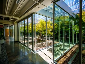 (Trent Nelson  |  The Salt Lake Tribune) Courtyards at the offices of Arch Nexus in Salt Lake City on Wednesday, Aug. 11, 2021.