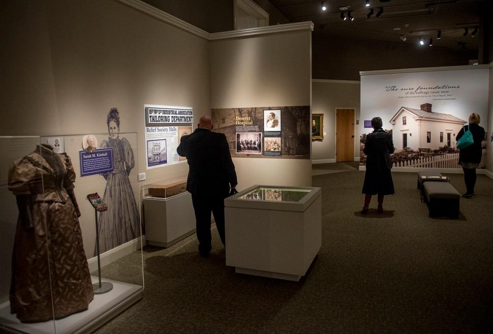(Rick Egan | The Salt Lake Tribune) The Sisters for Suffrage: How Utah Women Won the Vote exhibit at The Church History Museum Nov. 21, 2019.
