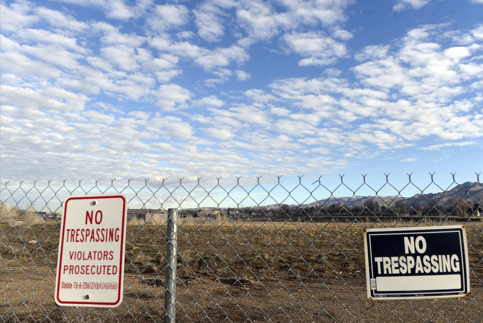 (Al Hartmann | The Salt Lake Tribune) View from the south looking north of the old Cottonwood Mall site near 4800 S. Highland Drive in Holladay on Tuesday March 13, 2018.