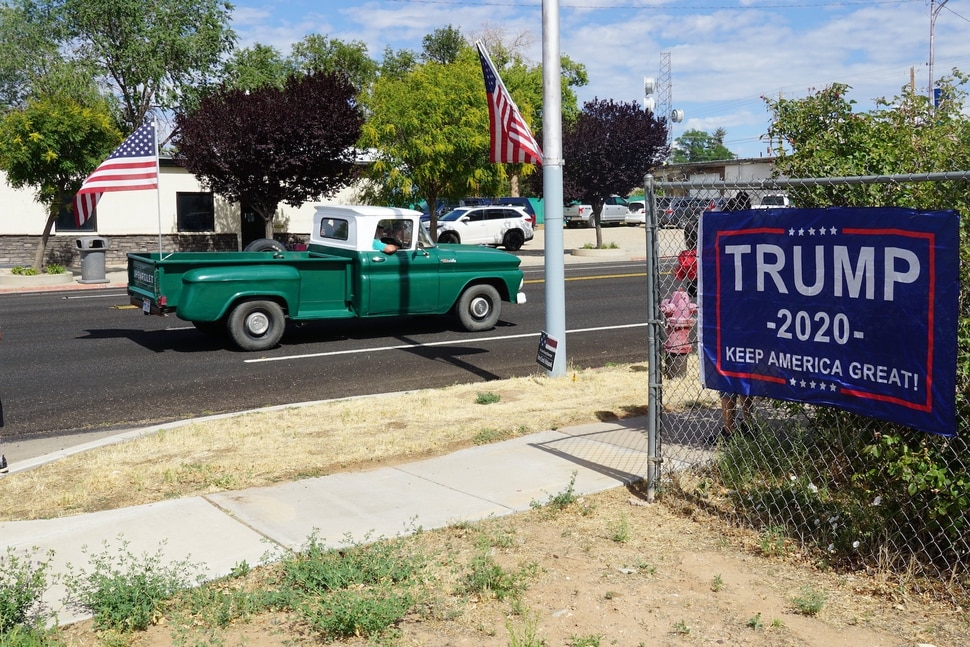(Zak Podmore | The Salt Lake Tribune) Support for President Donald Trump was on full display at Blanding's Fourth of July parade on Saturday.
