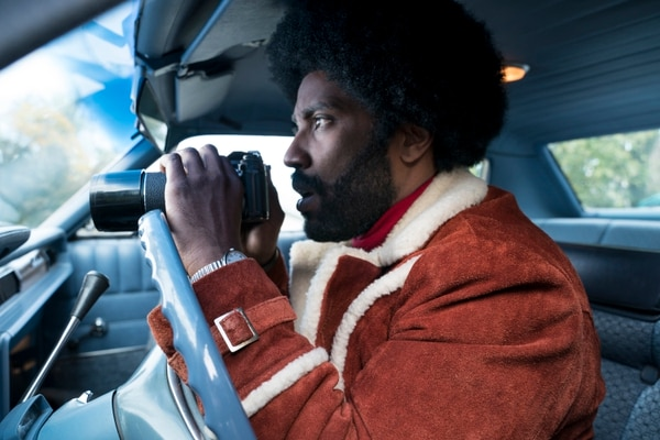(David Lee | courtesy Focus Features) Actor John David Washington plays Ron Stallworth, a real-life cop who infiltrated the Ku Klux Klan, in director Spike Lee's new movie