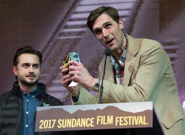 Rick Egan   The Salt Lake Tribune Writers, Matt Spicer and David Branson Smith received the Waldo Salt Screenwriting Award: U.S. Dramatic ÒIngrid Goes West,Ó at the 2017 Sundance Film FestivalÕs Awards Ceremony, Saturday, January 28, 2017.
