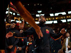 (Trent Nelson     The Salt Lake Tribune) Utah Jazz guard Mike Conley (11) takes the court as the Utah Jazz host the Oklahoma City Thunder, NBA basketball in Salt Lake City on Wednesday, Oct. 20, 2021.