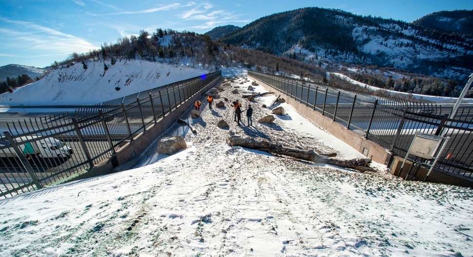 (Rick Egan | The Salt Lake Tribune) The first overpass for wildlife at the summit of Parleys Canyon crosses I-80 near Exit 140. Wednesday, Dec. 12, 2018.