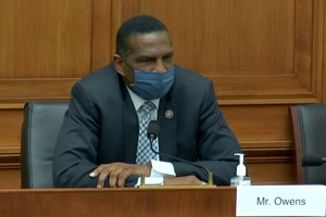 (Screenshot | YouTube) Utah Rep. Burgess Owens speaks during a meeting of the House Judiciary Committee meeting. California Rep. Hakeem Jeffries attacked Owens over his vote to overturn the 2020 election in favor of Donald Trump.
