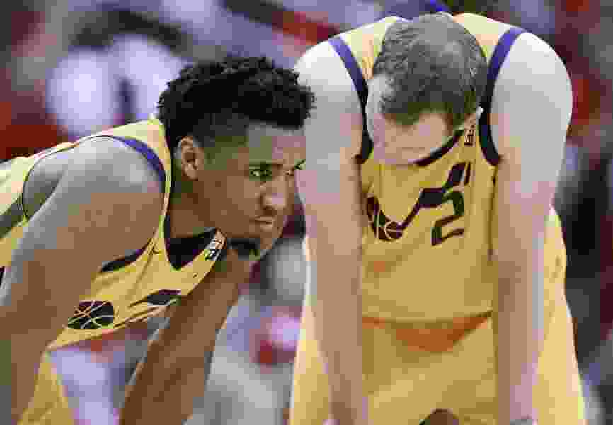 Jazz's advice to Donovan Mitchell is to play his own game vs. Rockets