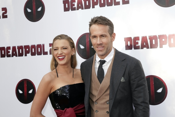 Actors Blake Lively, left, and Ryan Reynolds attend a special screening of