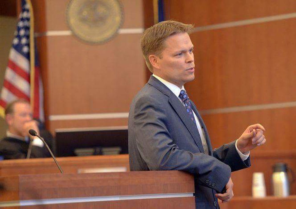 (Al Hartmann | Tribune File Photo) Nathan Evershed is an assistant Salt Lake County district attorney. He announced Tuesday that he is running for election for district attorney, challenging his current boss, Sim Gill.