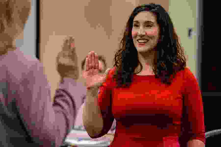 Salt Lake County Councilwoman Shireen Ghorbani takes the oath of office and gets right to work