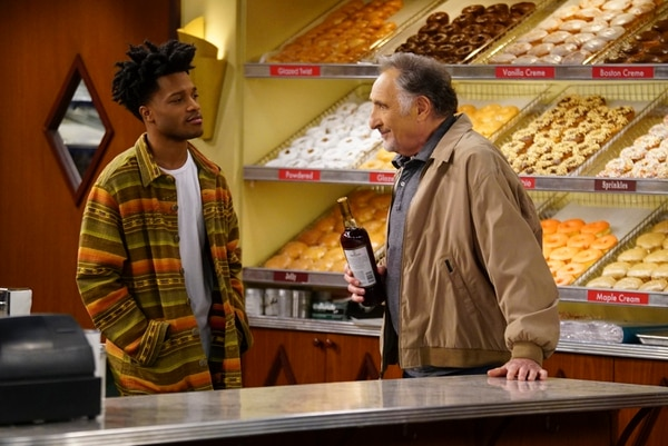 "(Photo courtesy of Monty Brinton/CBS) Jermaine Fowler, left, co-stars with Judd Hirsch in ""Superior Donuts."""