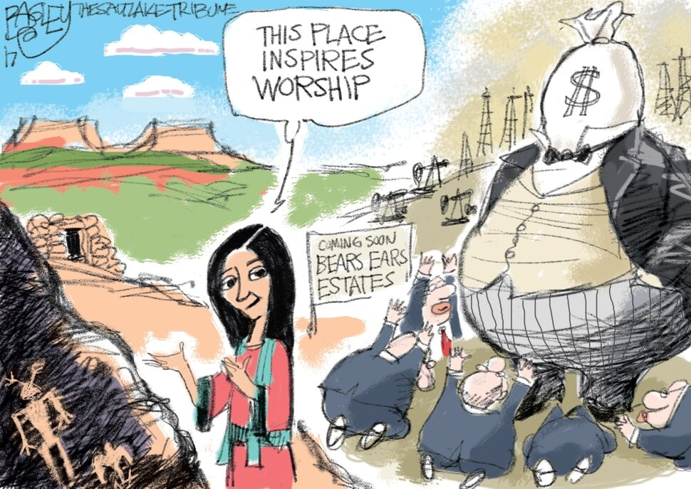 This Pat Bagley cartoon appears in The Salt Lake Tribune on Friday, Dec. 15, 2017.