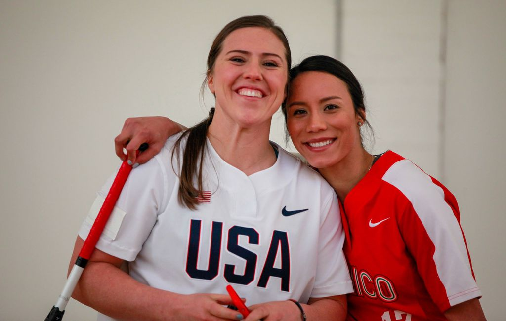 Olympic softball players Urtez, Chidester are frenemies on the field, fiancees off of it