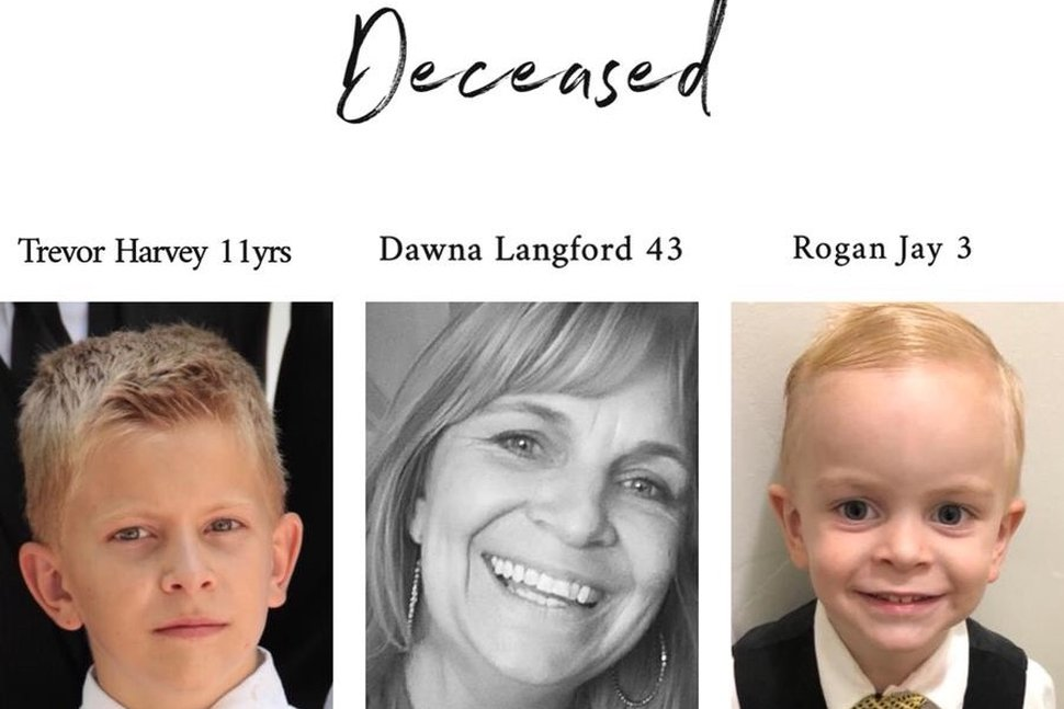 (Courtesy Miller and Langford families) This photo illustration shows photos of three of the victims in the Nov. 5, 2019, attacks in Mexico against U.S. citizens from La Mora, Sonora, Trevor Harvey Langford, 11, his mother, Dawna Langford, and his brother Rogan Jay, identified here as age 3, though other sources have said he was 2 1/2.