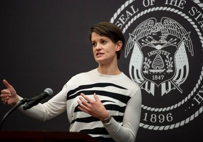 (Francisco Kjolseth  | The Salt Lake Tribune) State epidemiologist Dr. Angela Dunn provides updates on the ongoing pandemic as she speaks at a news conference in Salt Lake City on Thursday, March 11, 2021. She is leaving her state post to lead the Salt Lake County Health Department.