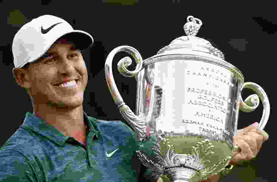 Brooks Koepka holds off Tiger Woods to win PGA Championship for third major title