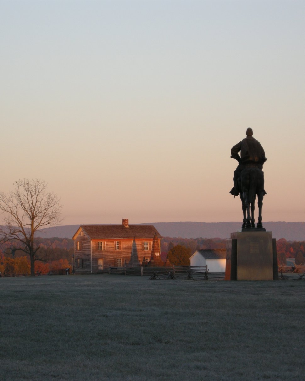 (Photo courtesy of Manassas National Battlefield Park) Sunrise at Henry Hill at Manassas National Battlefield Park.