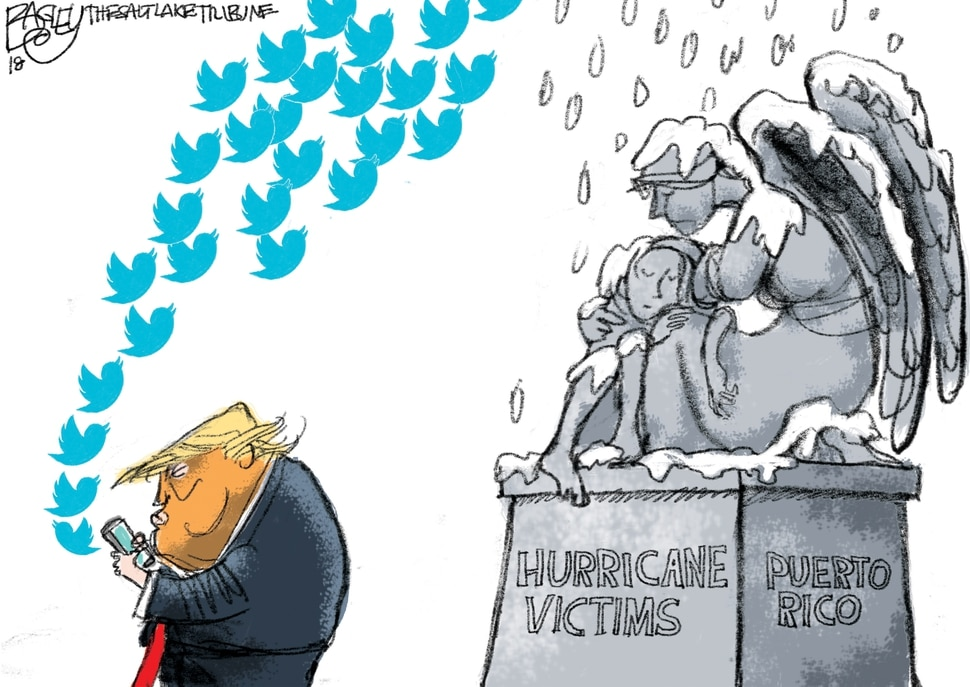 This Pat Bagley cartoon appears in The Salt Lake Tribune on Friday, Sept. 14, 2018.
