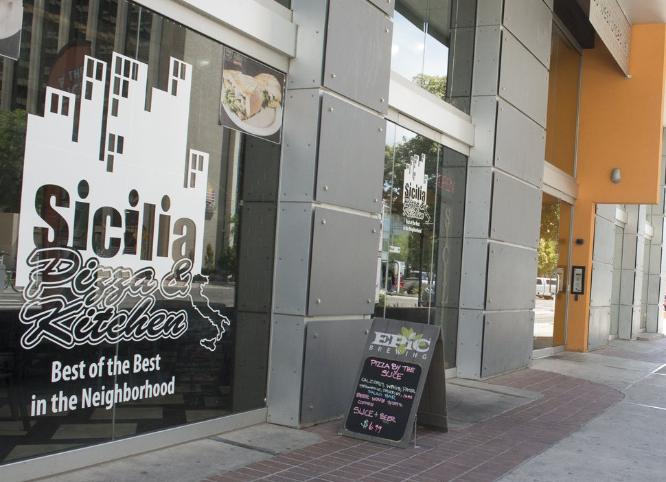 (Rick Egan | The Salt Lake Tribune) Sicilia Pizza and Kitchen, 35 West 300 South in Salt Lake, Friday, July 6, 2018.