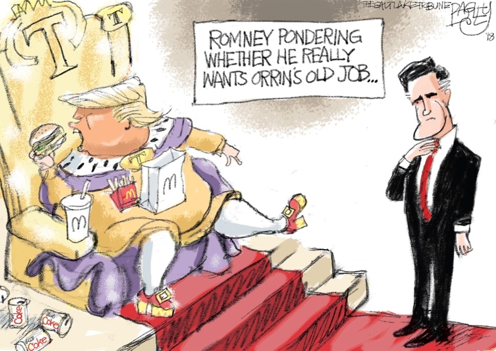 This Pat Bagley cartoon appears in The Salt Lake Tribune on Friday, Jan. 5, 2018.