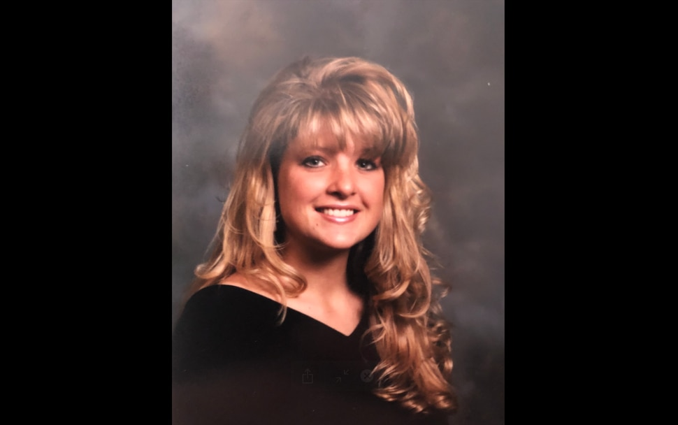 (Photo courtesy of Brodi Ashton) Those bangs! That's all Tribune columnist Brodi Ashton sees when she looks at this old picture of herself.