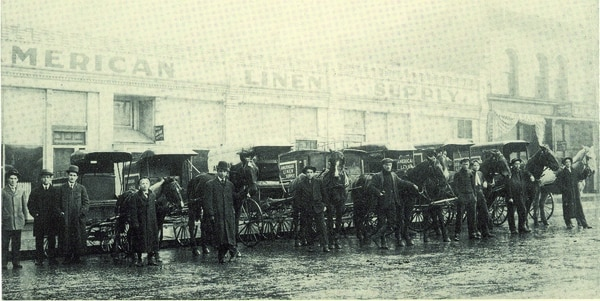 In Alsco's early days, the company had a whole fleet of horse-drawn wagons and drivers to collect linens and uniforms from clients around Salt Lake City, clean them and return them to businesses for use the next day.