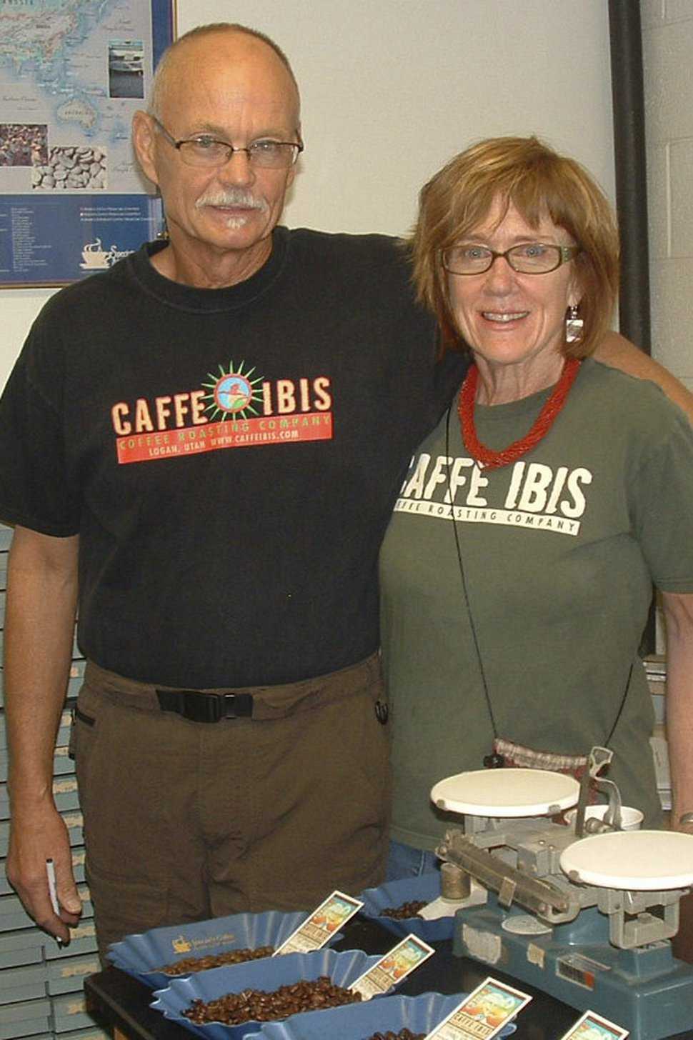 (Courtesy of Arrin Newton Brunson) Caffe Ibis Roastmaster Randy Wirth and CEO Sally Sears are passionate about the flavor of their coffee, as well as its impact on the environment. With each triple-certified cup, the couple, married for 35 years, serves environmental stewardship and social justice by adhering to the industry's highest standards.