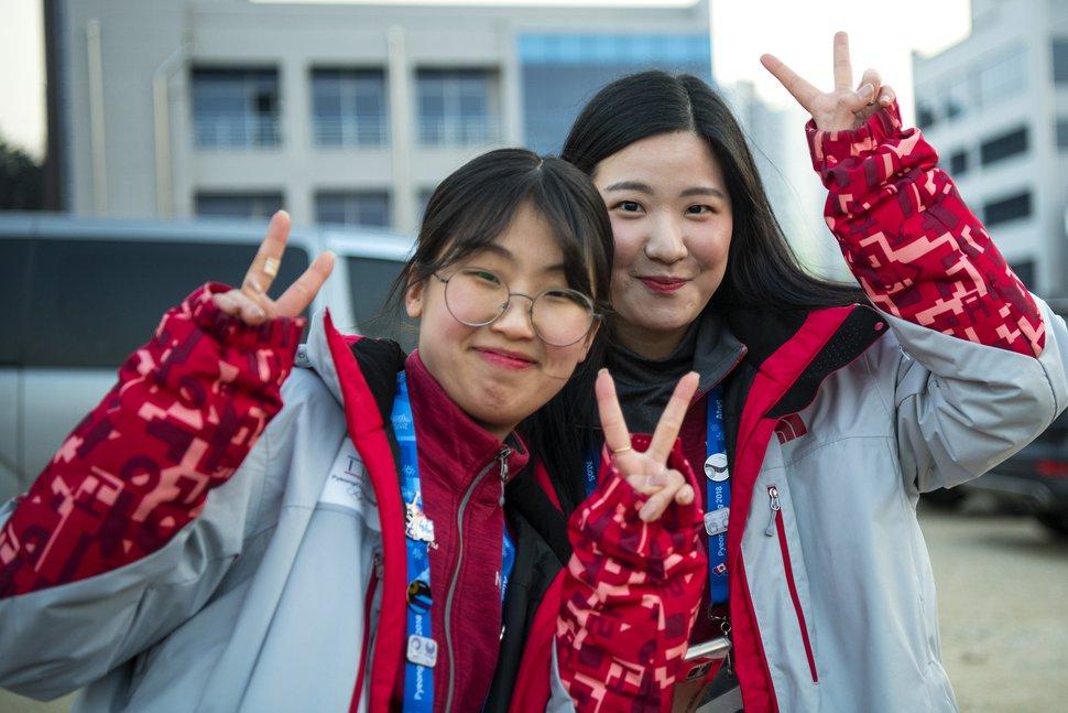 (Chris Detrick | The Salt Lake Tribune) Olympic volunteers during the Pyeongchang 2018 Winter Olympics Friday, Feb. 16, 2018.