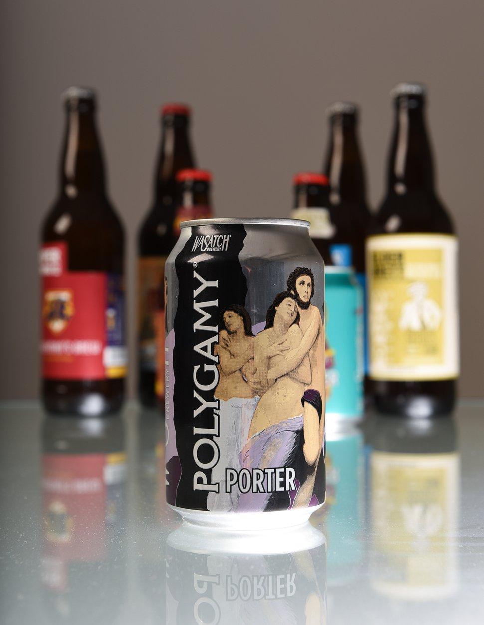 (Francisco Kjolseth | The Salt Lake Tribune) Utah's best beer names. Polygamy Porter from Wasatch Brewery.