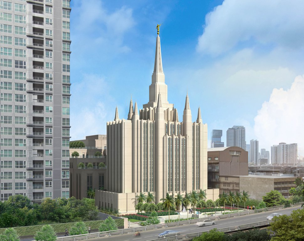 (Photo courtesy of The Church of Jesus Christ of Latter-day Saints) Rendering of the church's Bangkok Temple, the first planned for Thailand.