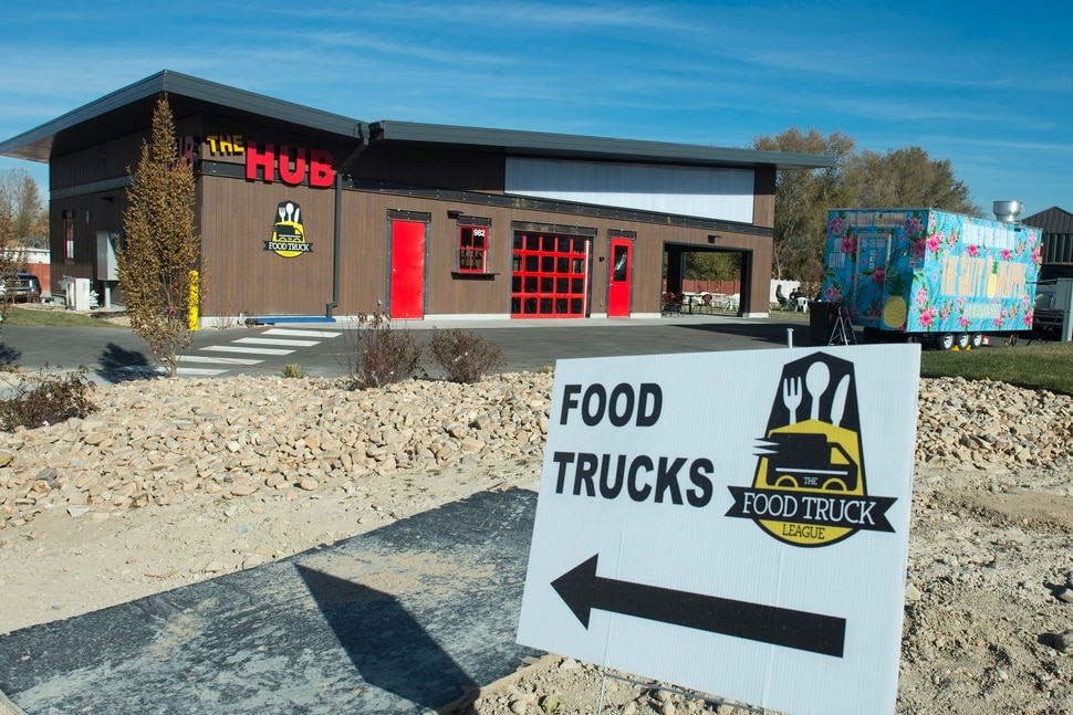 (Rick Egan | The Salt Lake Tribune) The Hub Food Truck Park in South Jordan, where food trucks park outside, but guests can eat inside, Monday, Nov. 12, 2018.