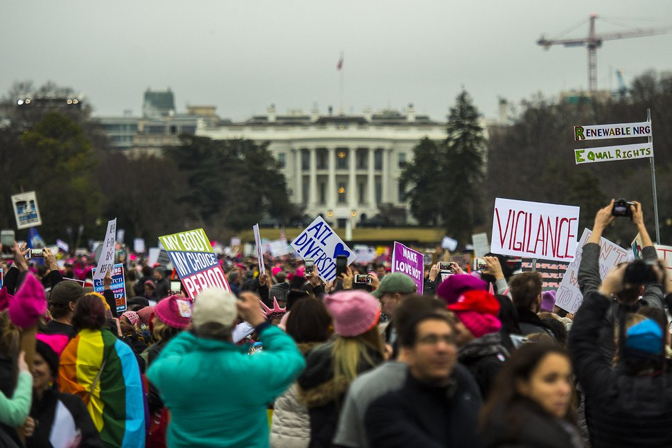 Chris Detrick | The Salt Lake Tribune Protesters at the White House during the Women's March on Washington Saturday January 21, 2017.