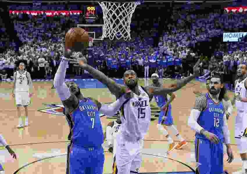 Russell Westbrook scores 45; Thunder beat Jazz to avoid elimination