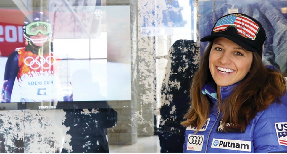 University of Utah grad Lyndsay Young, a U.S. Ski Team trainer and therapist, will be a constant presence with American skiing star Mikaela Schiffrin as she goes for the gold in Pyeongchang. Courtesy photo.