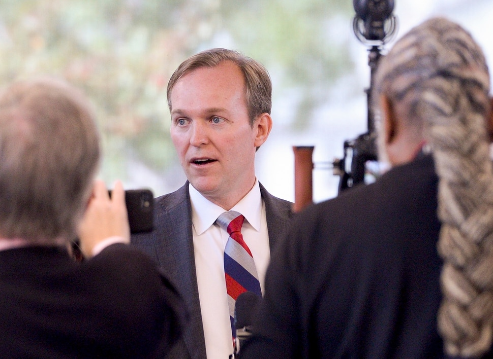 (Leah Hogsten   The Salt Lake Tribune) Rep. Ben McAdams on Friday said that while he will not prejudge the outcome of the impeachment inquiry into President Donald Trump, a formal probe is necessary to determine the facts. McAdams' Oct. 4, 2019 remarks came after a gathering at the Midvale Senior Center. He began the event with a brief statement on the impeachment inquiry and declined to take questions before pivoting to the scheduled topic of the town hall: health and wellness.