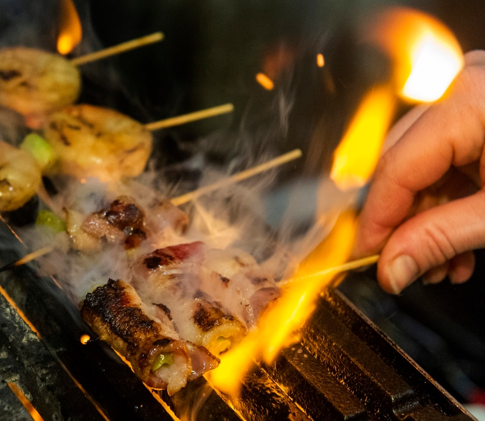 (Rick Egan | The Salt Lake Tribune) Bacon wrapped asparagus skewers at the Ramen Bar in Salt Lake City, Wednesday, Jan. 16, 2019.