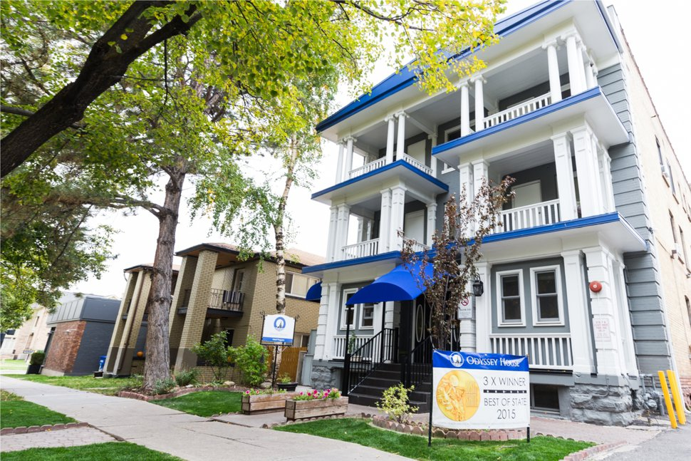 (Photo courtesy of Odyssey House of Utah) The mission of Odyssey House is to help clients to become productive, sober, happy members of society.