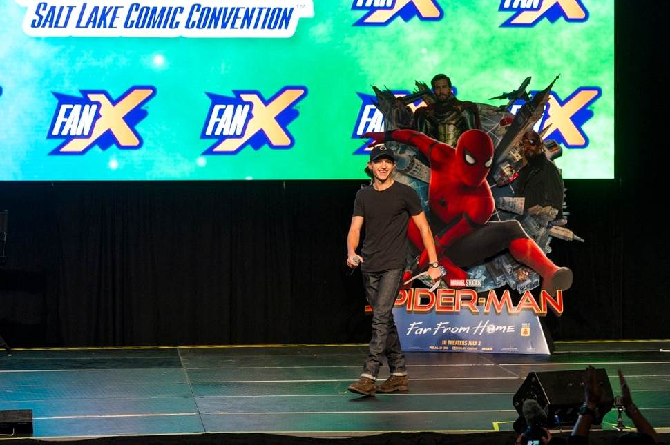 ( Alex Gallivan | Special to the Tribune ) Tom Holland, who has played Peter Parker/Spider-Man in five Marvel Cinematic Universe movies, appears at the FanX Salt Lake Comic Convention at the Salt Palace Convention Center in Salt Lake City on Saturday, Sept. 7, 2019.