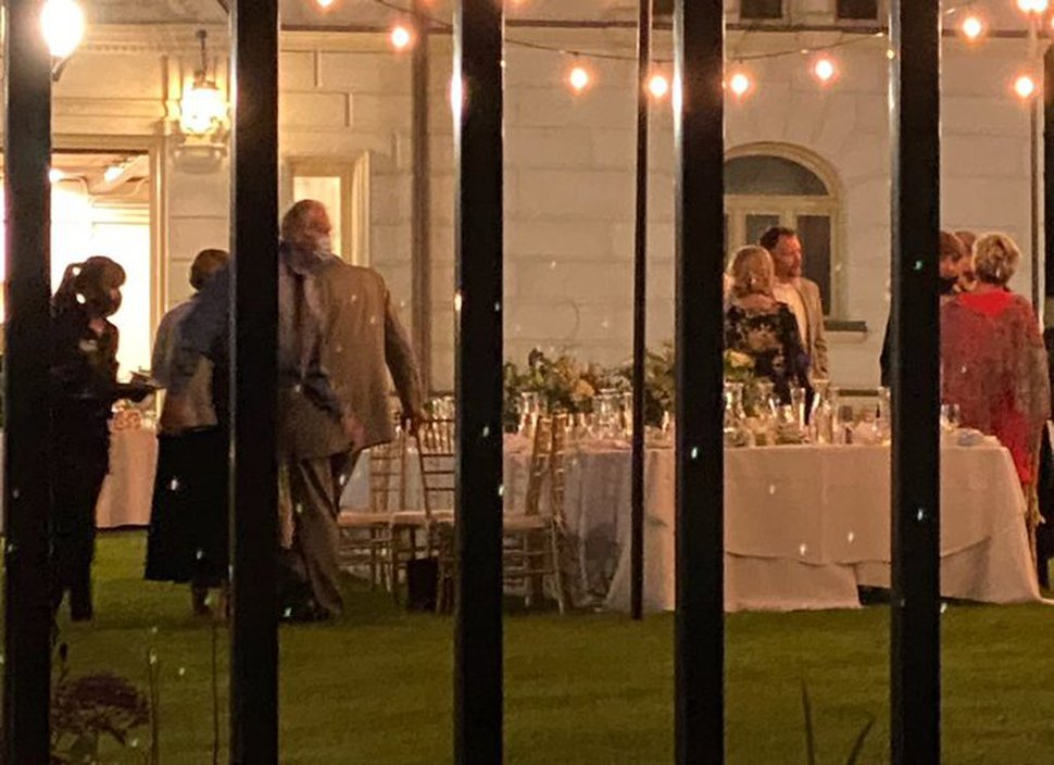 (Courtesy Michael Rupp) This is a cellphone photo taken through the fence of the Utah governor's mansion, Wednesday, July 22.