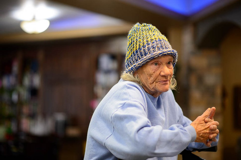 (Trent Nelson | The Salt Lake Tribune) Kim Adams was homeless and now lives at the Inn Between in Salt Lake City on Wednesday Dec. 12, 2018.