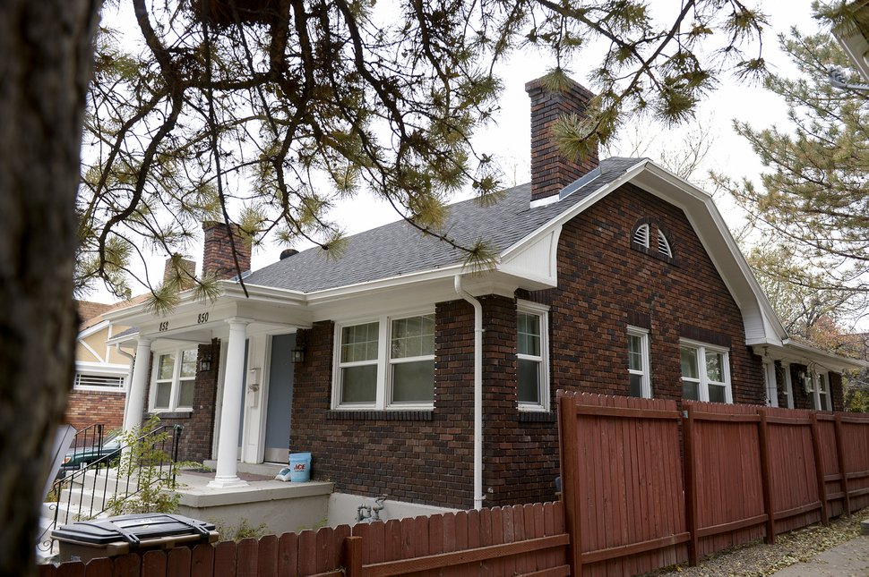 (Leah Hogsten   The Salt Lake Tribune) The duplex at 850 Roberta St. where Bre Lasley and her sister Kayli Lasley were brutally attacked in 2015. Robert Berger climbed into a window and stabbed a knife into Lasley's abdomen just as Salt Lake City police officer Ben Hone ran into her laundry room and shot and killed him. That Hone was in the area at all was a coincidence. Lasley and her sister had called 911 multiple times, screaming their address and asking for help, but dispatchers never sent a police officer. Lasley is now filing a lawsuit, saying the dispatch company requires dispatchers to ask a series of questions before they would send help. Because the women couldn't answer the questions, no one answered the call.