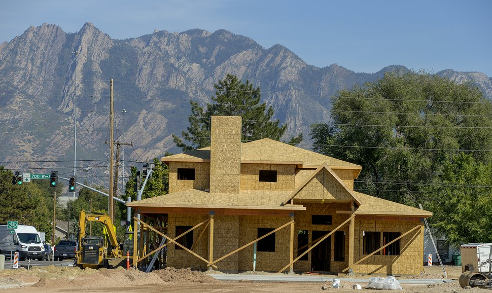 (Leah Hogsten | The Salt Lake Tribune) Construction is underway Sept. 25, 2019 at Investment Property Group, the new owner of Winchester Estates mobile home community. In September, IPG announced it will expand the 55-plus manufactured housing community by building an additional 40 homes, build a clubhouse (above) and add other amenties.